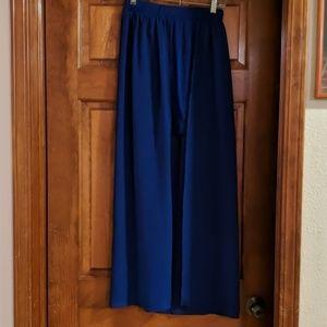Blue high low skirt